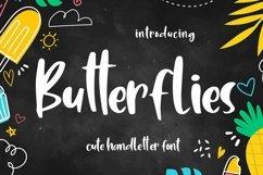Web Font Butterflies - Cute Handletter Font Product Image 1