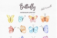 Watercolor Butterfly Clipart Butterflies Clip art set Product Image 2