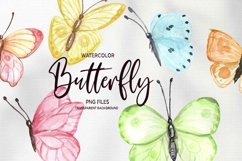 Watercolor Butterfly Clipart Butterflies Clip art set Product Image 3