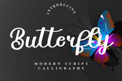 Butterfly - Modern Script Typeface Product Image 1