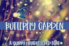 Web Font Butterfly Garden - A Quirky Handlettered Font Product Image 1