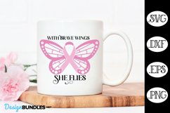 Cancer Butterfly Pink Ribbon SVG Butterfly SVG Product Image 1