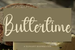 Buttertime - A Elegant Handwritten Font Product Image 1