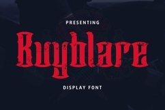 Web Font Buyblare - Tattoo Font Product Image 1