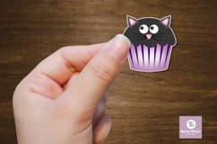 Cute Halloween Cupcake Stickers Product Image 5
