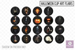 Halloween Clip Art Flairs Product Image 1
