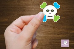 Cute Skull Boy/Girl Stickers Product Image 5