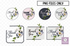 Flower Thank You Stickers-Print and Cut Product Image 1