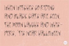 """BLACK WIDOW"" Halloween Sketch Font - Single Line/Hairline Product Image 4"