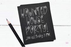 """BLACK WIDOW"" Halloween Sketch Font - Single Line/Hairline Product Image 5"