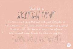 """BLACK WIDOW"" Halloween Sketch Font - Single Line/Hairline Product Image 3"