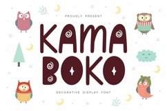 Kamaboko - Decorative Display Font Product Image 1