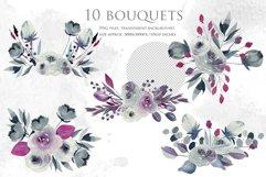 Georgia. Indigo floral bouquets. Product Image 2