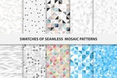 Swatches of mosaic seamless patterns Product Image 1