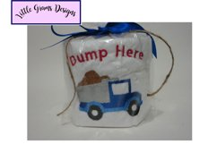 Truck Tractor Dump Toilet Paper Embroidery Design Product Image 2