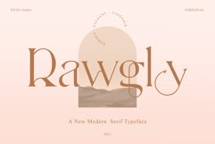 Rawgly - A New Modern Serif Typeface Product Image 1