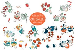 Birds & Berries in folk style Product Image 2