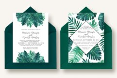 Tropical Leaves Invitation Suite Product Image 5