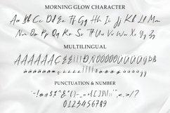 Web Font - Morning Glow - Handwritten Script Font Product Image 5