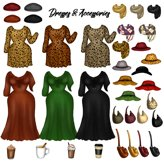 Fall Fashion &Travel Clipart DIY Best Friends Clipart PNG Product Image 4
