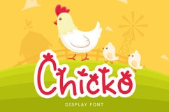 Chicko Cute Display Font Product Image 1