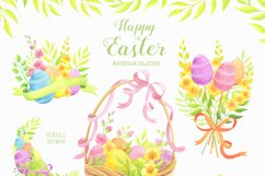 Happy Easter watercolor collection Product Image 2