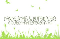 Dandelions And Butterflies - A Quirky Handlettered Font Product Image 1