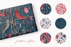 Lovebirds folk art bird illustrated collection Product Image 4