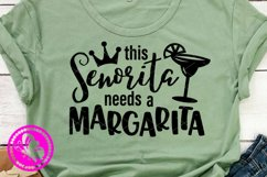 This senorita needs a margarita svg Cinco de mayo shirt Pdf Product Image 2