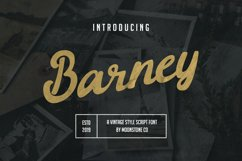 Barney Vintage Style Script Font Product Image 1