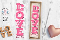 Love Valentines Porch Sign Cut File - Sublimation File Product Image 3