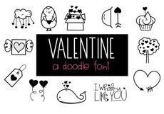 Valentine - Valentine's Day Doodle Font  Product Image 1