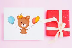 Cute cartoon baby bear clipart bundle. Eps, Png. Product Image 5