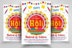 Happy Holi Festival Flyer Template Product Image 1