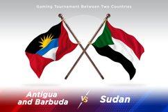 Antigua vs Sudan Two Flags Product Image 1