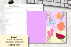 Summer Cahier Size Notebook Inserts Planners Product Image 1