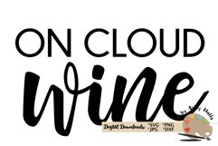 On cloud wine svg wine lover svg wine shirt svg wine decal Product Image 2
