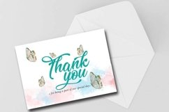 Thank you card, Digital Download, Print Card Product Image 1