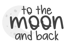 Basic Moon - A Lowercase Font Product Image 2