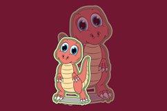 cute dinosaur cartoon Product Image 1