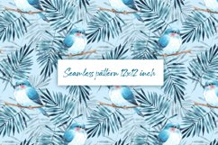 Seamless pattern with leaves and birds Product Image 1