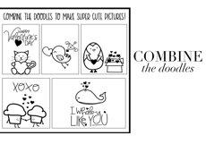 Valentine - Valentine's Day Doodle Font  Product Image 4