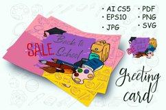 Design poster, banner, flyer. School supplies. Doodle Product Image 1