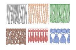 Fringe trim. Textile fringes, raw cloth edge and fashion gar Product Image 1