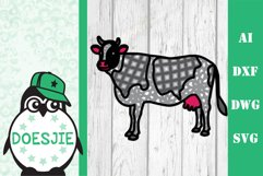 Cow farm animal 3d svg model multi layer mandala layered Product Image 8