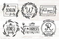 Vol 2 - Family Monogram Sign Bundle Floral Product Image 1