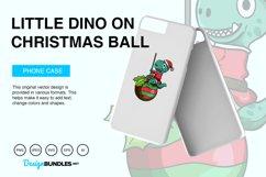 Little Dino on Christmas Ball Vector Illustration Product Image 3