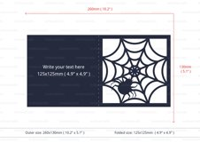 Spider Web Halloween Invitation cutting file Product Image 4