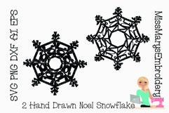 Noel Word Snowflake SVG | Noel SVG | Snowflake SVG | Product Image 1
