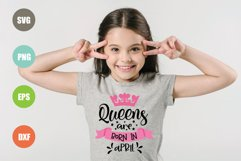 Queens Are Born In.. SVG Bundle 12 Designs Product Image 2